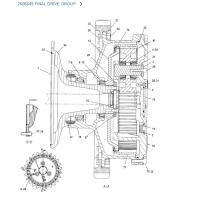 Бортовой редуктор CAT 260-6649 DRIVE GROUP-FINAL (конечная передача), Caterpillar 260-6650, 260-6652