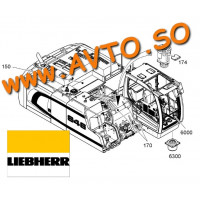 LIEBHERR 10000362 HEXHEAD SCREW Запчасть