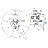 Гидромотор на двухвальцевый дорожный каток HAMM HD 110 1233920