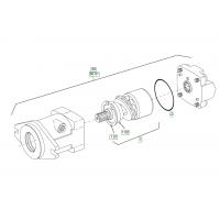 Гидромотор на сочлененный тандемный каток Hamm HD 90 1284266
